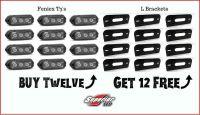 12 Feniex T3's & 12 L Brackets