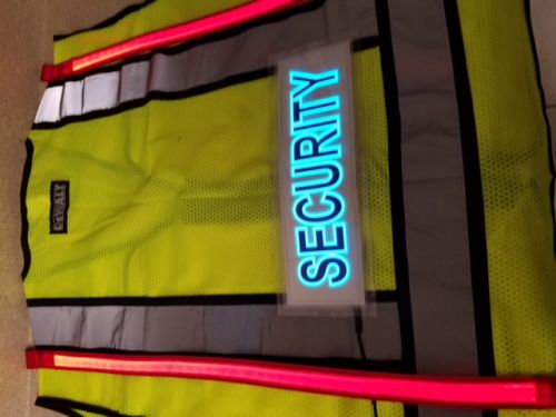 Security Illuminated Safety Vest With ID Panel