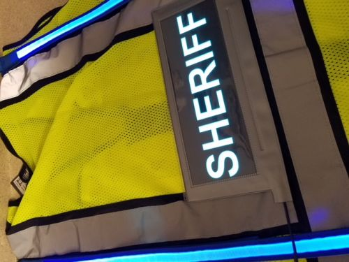 SHERIFF Illuminated Safety Vest With ID Panel
