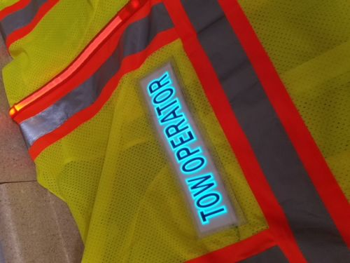 Tow Operator Illuminated Safety Vest With ID Panel