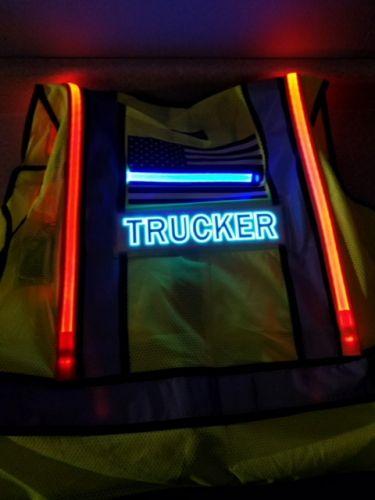 Trucker Illuminated Safety Vest With ID Panel